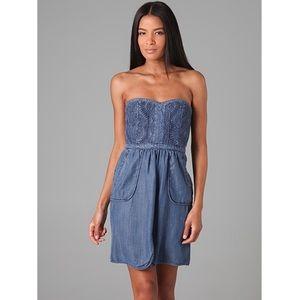 Rebecca Taylor Denim Strapless Dress